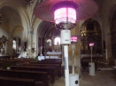 Estufas de exterior en iglesias